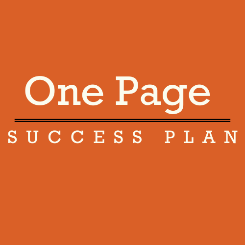 Small Business One Page Success Plan